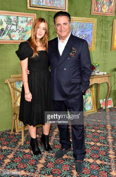 Daniella GarciaLorido and Andy Garcia attends the HBO Films' My Dinner With Herve Premiere at Paramount Studios on October 4 2018 in Hollywood...