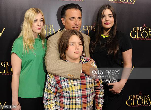 Daniella GarciaLorido Andy Garcia Andres GarciaLorido and Dominik GarciaLorido attend the premiere of ARC Entertainment's 'For Greater Glory' at...