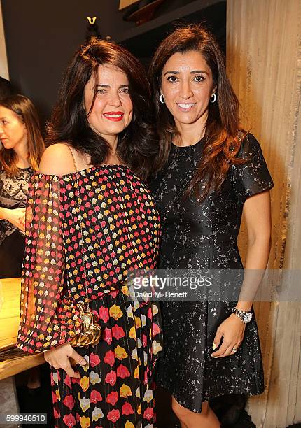 Daniella Helayel and Fabiana Flosi attend the Ara Vartanian store opening party on Bruton Place on September 7 2016 in London England