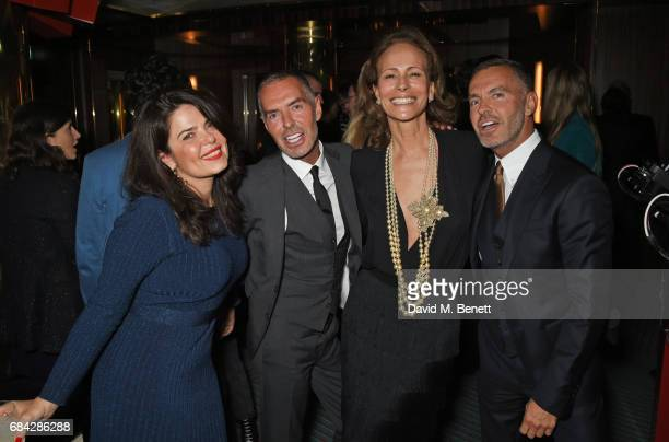 Daniella Helayel Dean Caten Andrea Dellal and Dan Caten attend a private dinner celebrating the launch of the KATE MOSS X ARA VARTANIAN collection at...