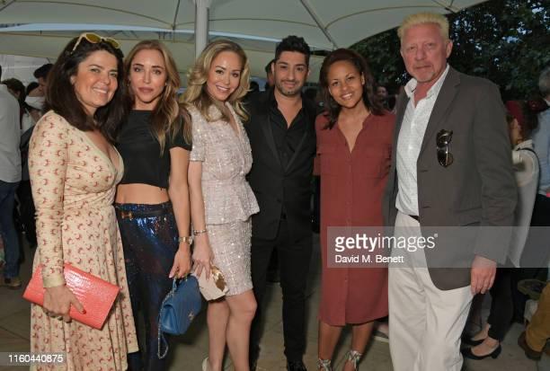 Daniella Helayel Katia Francesconi Tamara Ralph Michael Russo Rachael Barrett and Boris Becker attend the opening night of Film4 Summer Screen at...