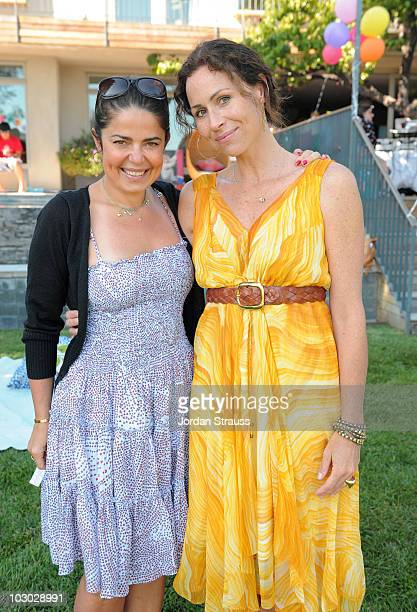 Daniella Issa Helayel and Minnie Driver attend the Baby Issa launch and Issa London Resort 2011 Presentation at Private Residence on July 21 2010 in...
