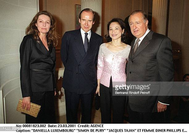 Daniella Luxembourg Simon De Pury Jacques Tajan and wife at theDiner Phillips Exhibition At Collection Berggruen In Paris