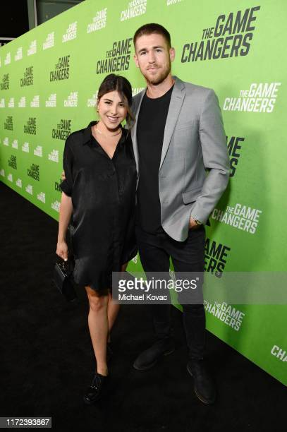 Daniella Monet and Andrew Gardner attend the Los Angeles Premiere of The Game Changers Documentary at ArcLight Hollywood on September 04 2019 in...