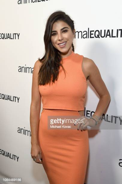 Daniella Monet arrives at the Animal Equality Inspiring Global Action Gala at The Beverly Hilton Hotel on October 27 2018 in Beverly Hills California