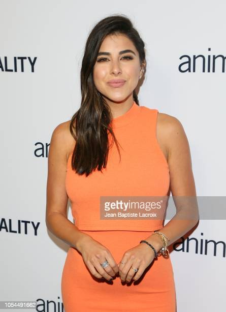 Daniella Monet attends the Animal Equality's Inspiring Global Action Los Angeles Gala held at The Beverly Hilton Hotel on October 27 2018 in Beverly...