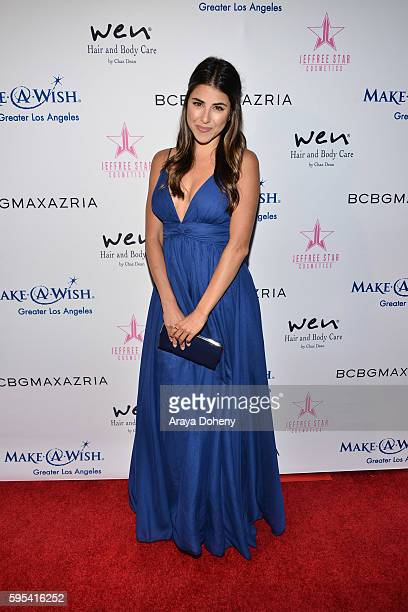 Daniella Monet attends the Inaugural Fashion Show Benefiting MakeAWish with BCBGMAXAZRIA and Celebrity Host Brad Goreski at The Taglyan Complex on...