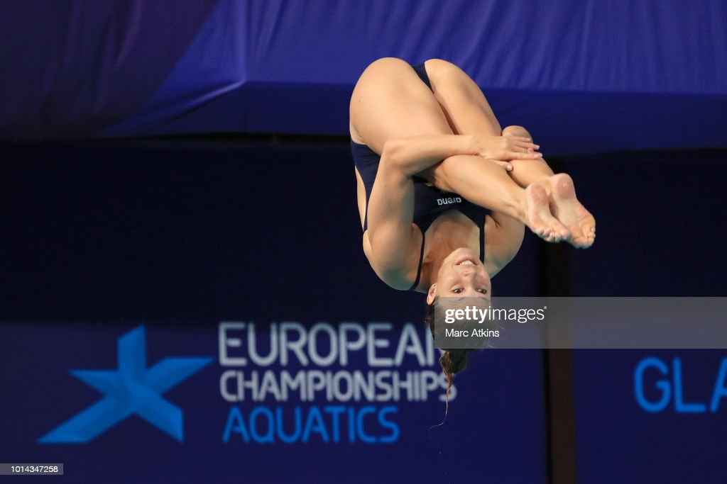 Daniella Nero of Sweden competes in the Women's 1m Preliminary Springboard Diving on Day Nine of the European Championships Glasgow 2018 at Royal Commonwealth Pool on August 10, 2018 in Edinburgh, Scotland. This event forms part of the first multi-sport European Championships.