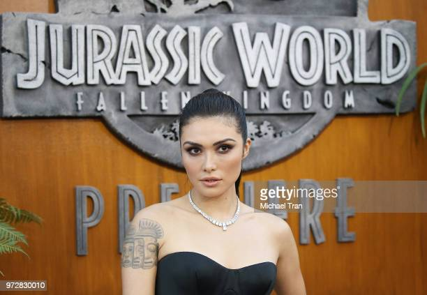 Daniella Pineda arrives to the Los Angeles premiere of Universal Pictures and Amblin Entertainment's 'Jurassic World Fallen Kingdom' held at Walt...