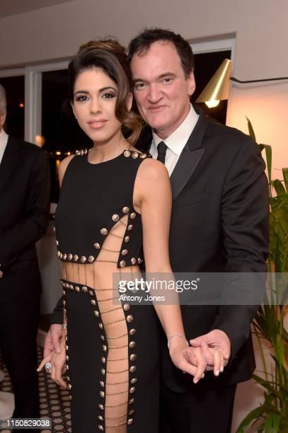 Daniella Tarantino and Quentin Tarantino attend the Once Upon A Time In Hollywood After Party at JW Marriott on May 21 2019 in Cannes France