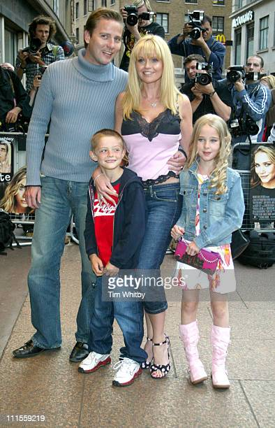 Daniella Westbrook and family during 'New York Minute' London Premiere Arrivals at Odeon West End in London Great Britain