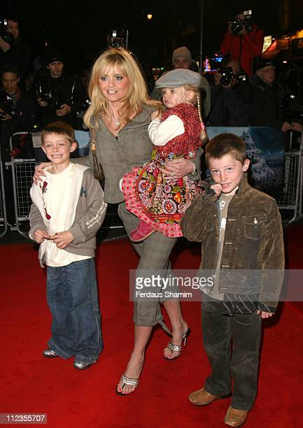 Daniella Westbrook and family during 'The Polar Express' London Premiere at Vue Cinema Leicester Square in London Great Britain