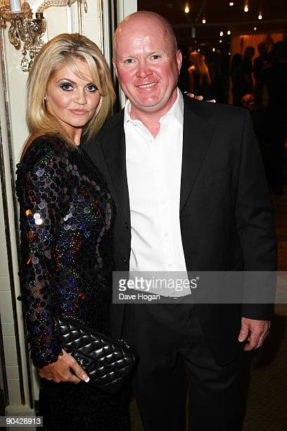 Daniella Westbrook and Steve McFadden attend the TV Quick TV Choice Awards Champagne reception held at The Dorchester on September 7 2009 in London...