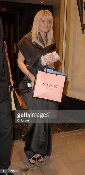 Daniella Westbrook during Michelle Heaton and Daniella Westbrook Leaving the The 2005 Pink Ice Ball October 7 2005 at Dorchester Hotel in London...