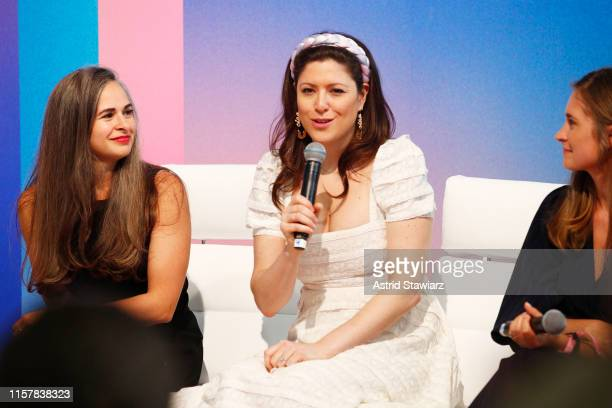 """Daniella Yacobovsky speaks on stage during """"The Female Frontier"""" panel discussion during POPSUGAR Play/Ground at Pier 94 on June 23, 2019 in New York..."""