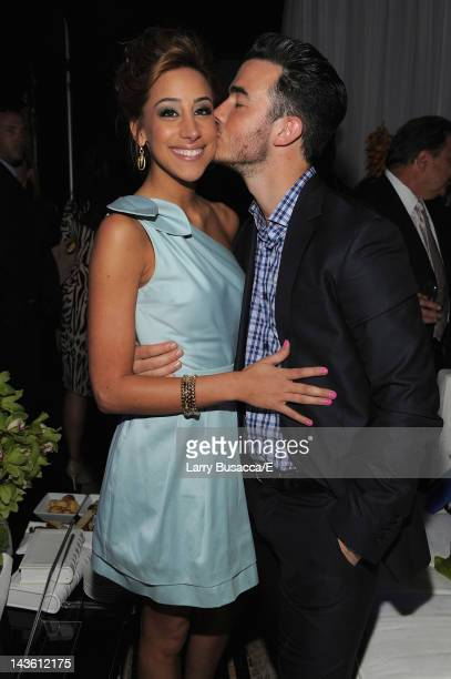Danielle and Kevin Jonas of Married to Jonas attend E 2012 Upfront at NYC Gotham Hall on April 30 2012 in New York City