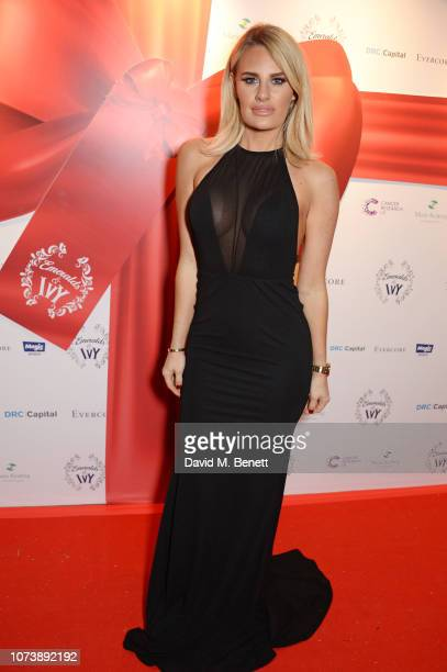 Danielle Armstrong attends the 12th annual Emeralds Ivy Ball in aid of Cancer Research UK and The Marie Keating Foundation at The Royal Horticultural...
