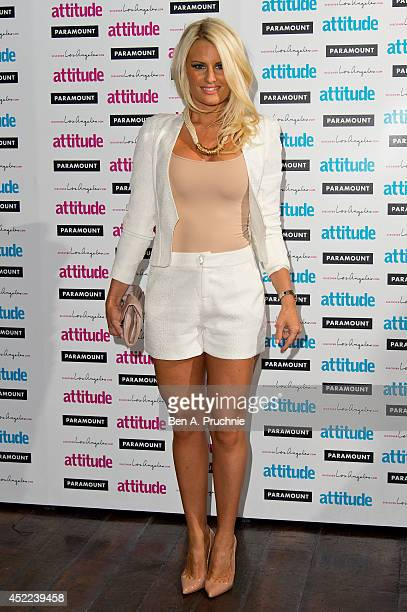 Danielle Armstrong attends the Attitude Magazine Hot 100 party at Paramount Club on July 16 2014 in London England
