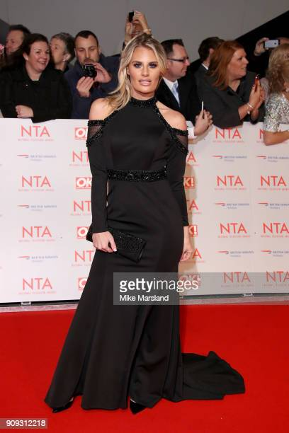 Danielle Armstrong attends the National Television Awards 2018 at The O2 Arena on January 23 2018 in London England