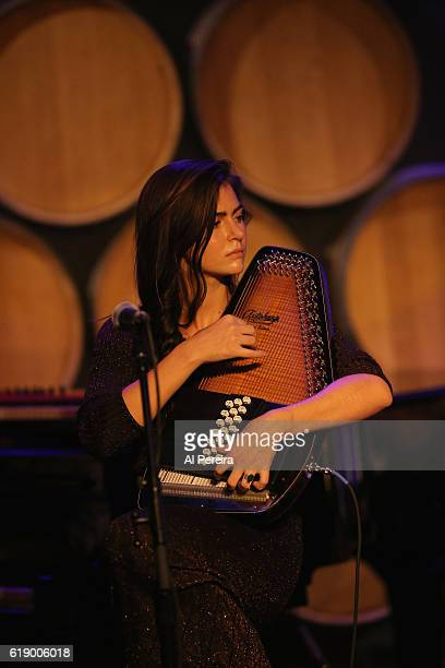 Danielle Aykroyd performs as part of the Wesley Stace's Cabinet of Wonders show at City Winery on October 28 2016 in New York City