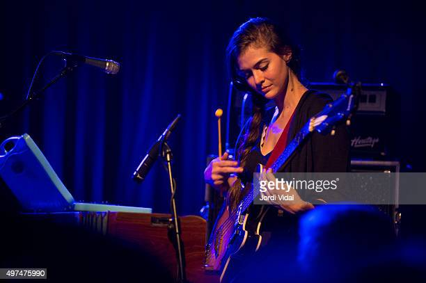 Danielle Aykryd of Elvis Perkins band performs on stage at Sala Apolo on November 16 2015 in Barcelona Spain
