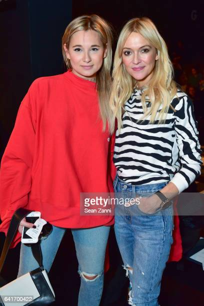 Danielle Bernstein and Zanna Roberts Rassi attend the Jonathan Simkhai show during New York Fashion Week at Skylight Clarkson Sq on February 11 2017...