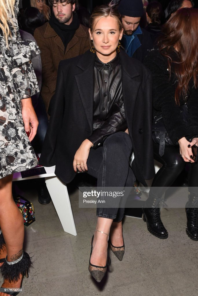 Danielle Bernstein attends Anna Sui - Front Row - February 2018 - New York Fashion Week: at Spring Studios on February 12, 2018 in New York City.