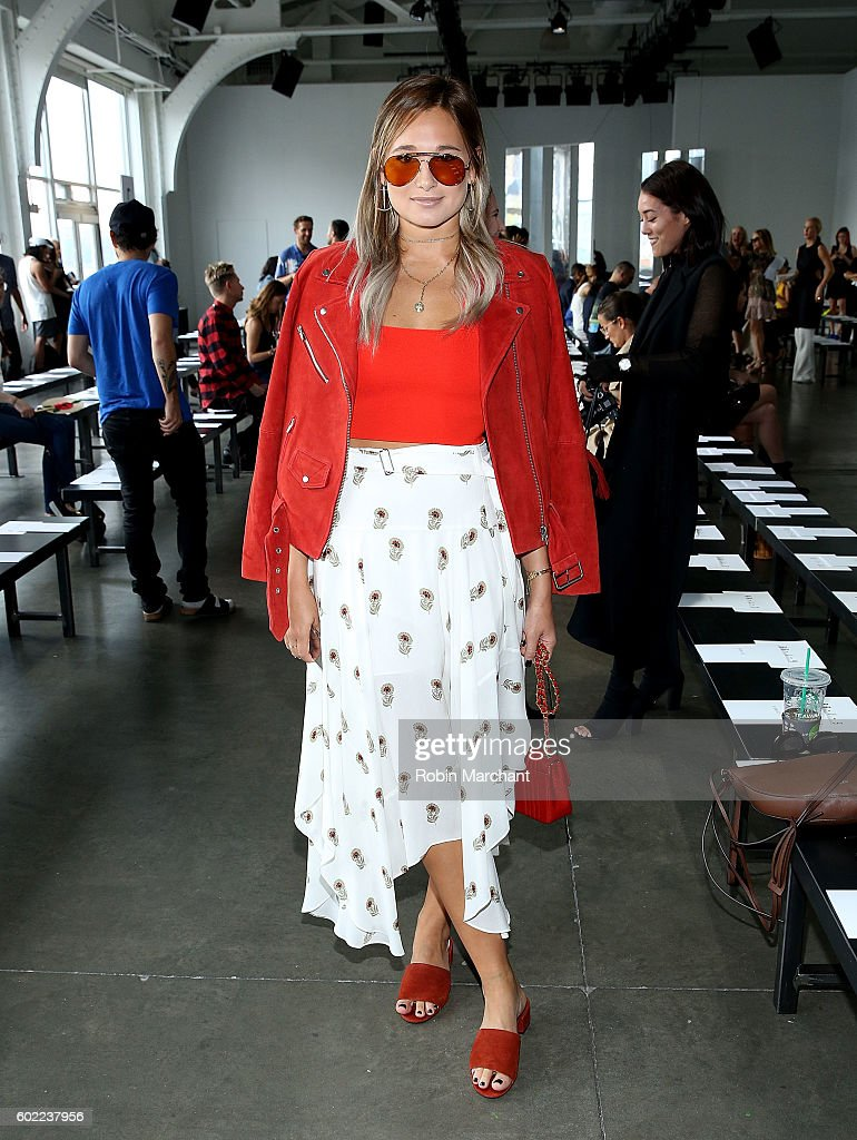 Danielle Bernstein attends Dion Lee Front Row September 2016 during New York Fashion Week at Pier 59 Studios on September 10, 2016 in New York City.