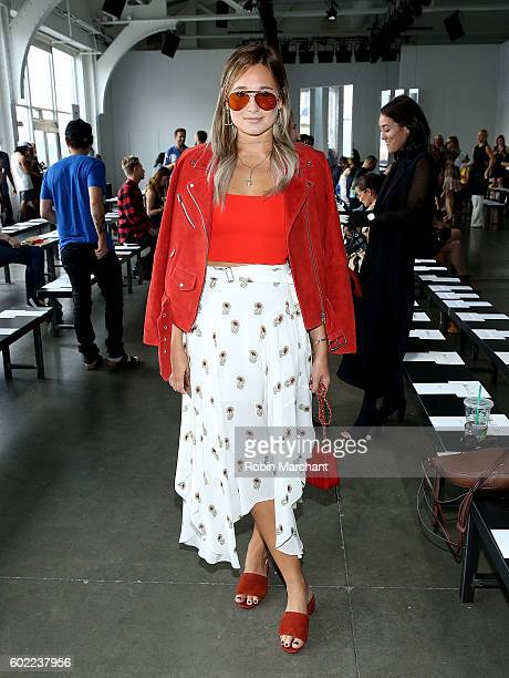 Danielle Bernstein attends Dion Lee Front Row September 2016 during New York Fashion Week at Pier 59 Studios on September 10 2016 in New York City