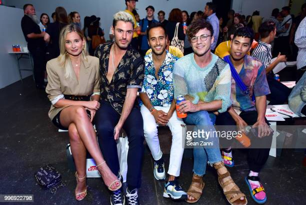 Danielle Bernstein Joey Zauzig Moti Ankari Justin Livingston and Anthony Urbano attend the Todd Snyder S/S 2019 Collection during NYFW Men's July...