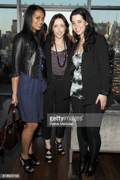 Danielle Billinkoff Christine Olsen and Heather Jacobson attend SWAROVSKI Celebrates the 2010 CFDA Fashion Award Nominees and Honorees at Ink48 Hotel...