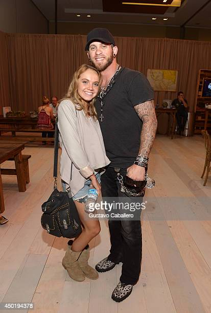 Danielle Bradbery and Brantley Gilbert at the Samsung Galaxy Artist Lounge at the 2014 CMA Music Festival on June 6 2014 in Nashville Tennessee