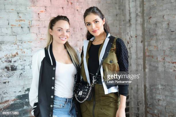 Danielle Bradbery and Olivia Culpo attend DSW ELLE Happy Hour event celebrating DSW's #MarchOn USA Tour at Acme Feed Seed on June 8 2017 in Nashville...