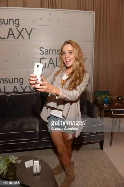 Danielle Bradbery at the Samsung Galaxy Artist Lounge at the 2014 CMA Music Festival on June 6 2014 in Nashville Tennessee