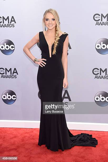 Danielle Bradbery attends the 48th annual CMA Awards at the Bridgestone Arena on November 5 2014 in Nashville Tennessee