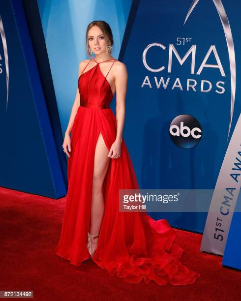 Danielle Bradbery attends the 51st annual CMA Awards at the Bridgestone Arena on November 8 2017 in Nashville Tennessee