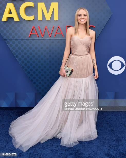 Danielle Bradbery attends the 53rd Academy of Country Music Awards at MGM Grand Garden Arena on April 15 2018 in Las Vegas Nevada