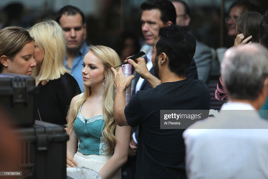 Danielle Bradbery gets made up when she performs at NBC's TODAY Show on July 17, 2013 in New York City.