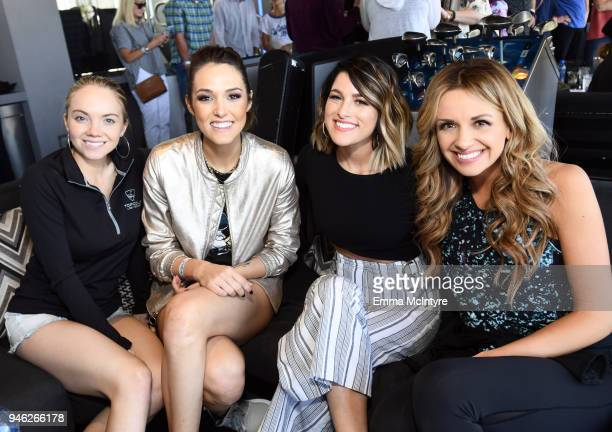 Danielle Bradbery Jennifer Fiedler Cassadee Pope and Carly Pearce attend the ACM Lifting Lives TOPGOLF TeeOff at Topgolf Las Vegas on April 14 2018...