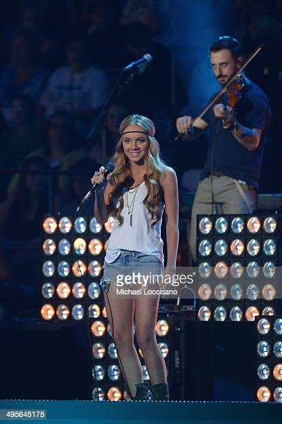Danielle Bradbery performs onstage at the 2014 CMT Music Awards at Bridgestone Arena on June 4 2014 in Nashville Tennessee