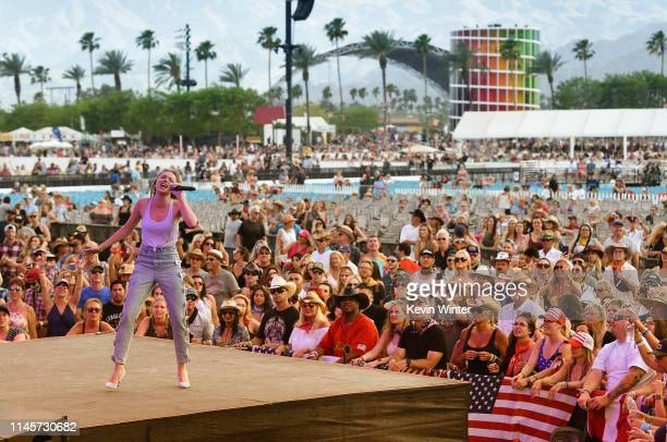 Danielle Bradbery performs onstage during the 2019 Stagecoach Festival at Empire Polo Field on April 28 2019 in Indio California