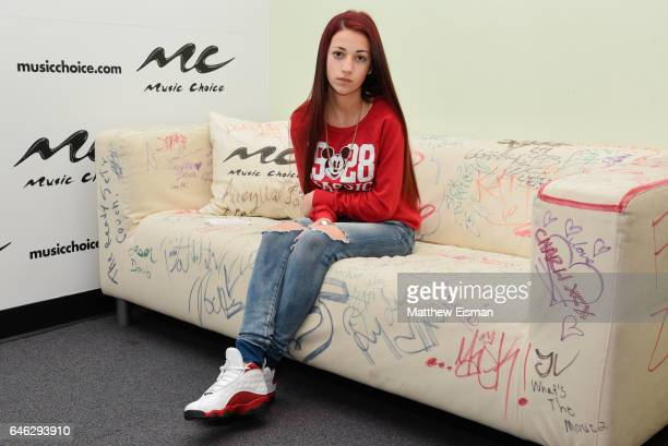Danielle Bregoli aka the 'Cash Me Outside' girl visits at Music Choice on February 28 2017 in New York City