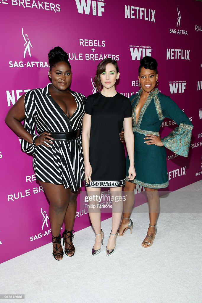 Danielle Brooks, Alison Brie and Regina King attend the Netflix - Rebels and Rule Breakers For Your Consideration Event at Netflix FYSee Space on May 12, 2018 in Beverly Hills, California.