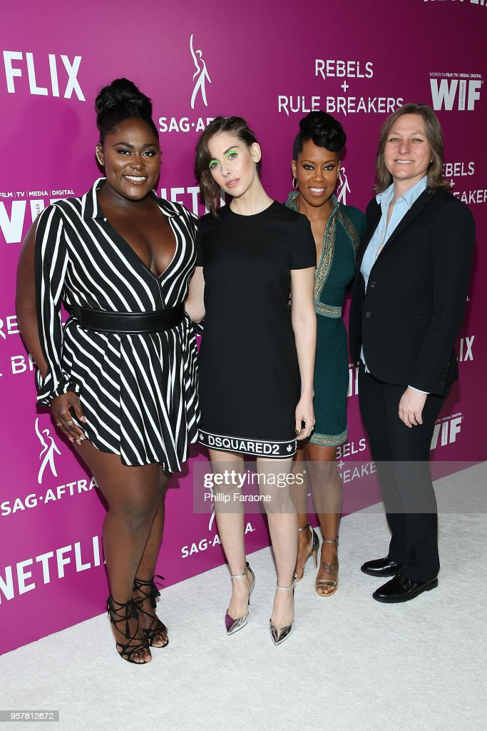 Danielle Brooks, Alison Brie, Regina King, and Cindy Holland attend the Netflix - Rebels and Rule Breakers For Your Consideration Event at Netflix FYSee Space on May 12, 2018 in Beverly Hills, California.