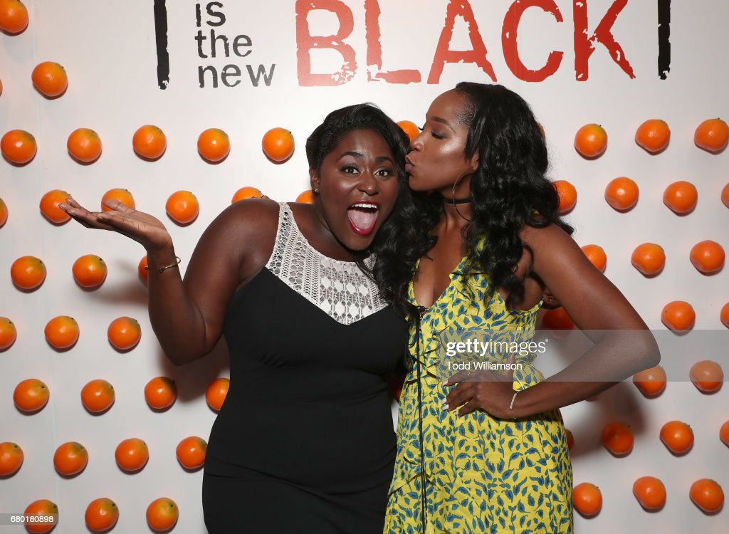 Danielle Brooks and Ashley Blaine Featherson attend the Netflix FYSEE Kick-Off Event at Netflix FYSee Space on May 7, 2017 in Beverly Hills, California.