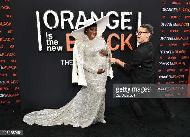 Danielle Brooks and Designer Christian Siriano attend the Orange is the New Black Season 7 World Premiere Screening and Afterparty 2019 on July 25...