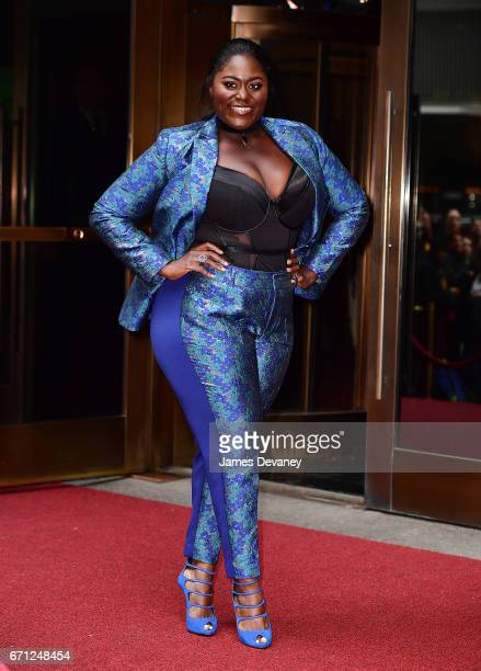 Danielle Brooks arrives to Variety's Power of Women New York luncheon at Cipriani Midtown on April 21 2017 in New York City