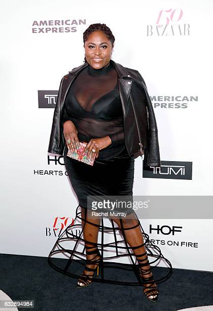 Danielle Brooks attends Harper's BAZAAR celebration of the 150 Most Fashionable Women presented by TUMI in partnership with American Express La Perla...