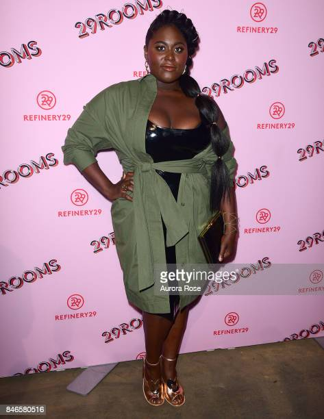 Danielle Brooks attends Refinery29's '29Rooms Turn It Into Art' at 106 Wythe Ave on September 7 2017 in New York City