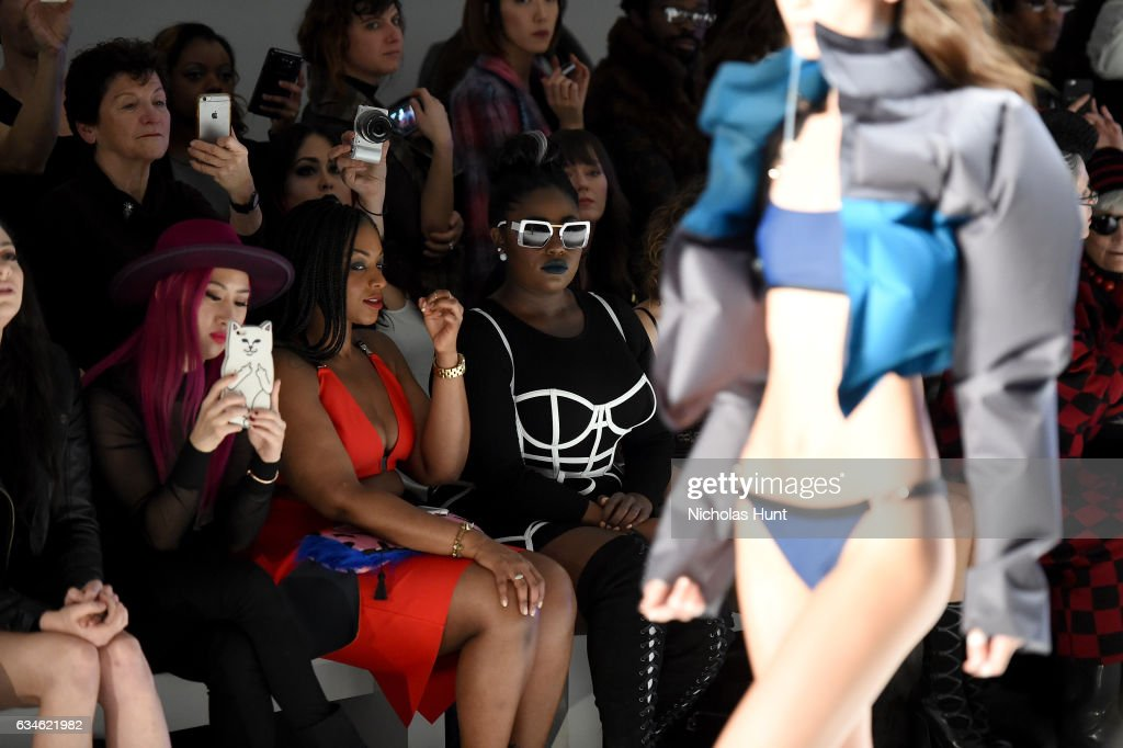 Danielle Brooks attends the Chromat collection front row during New York Fashion Week: The Shows at Gallery 3, Skylight Clarkson Sq on February 10, 2017 in New York City.
